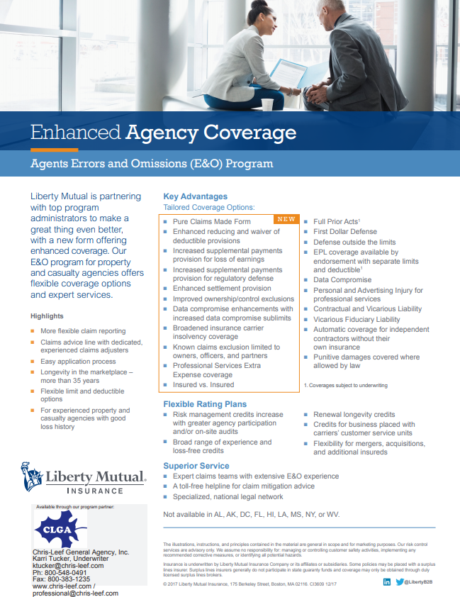enhanced agency coverage